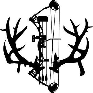 Non typical mule deer. Antlers clipart bow