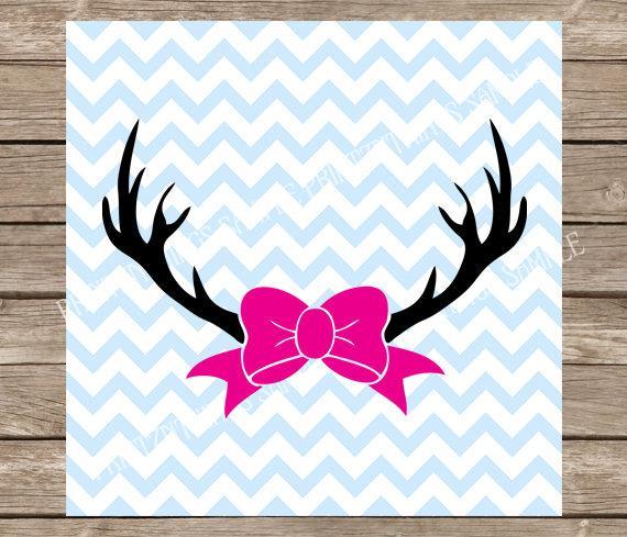 Antler clipart bow. Hunting svg antlers deer
