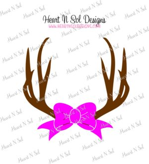 Antler clipart bow. Antlers with monogram frame