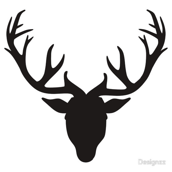 Deer . Antlers clipart black and white