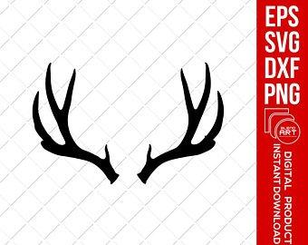 Deer antlers svg etsy. Antler clipart buck antler
