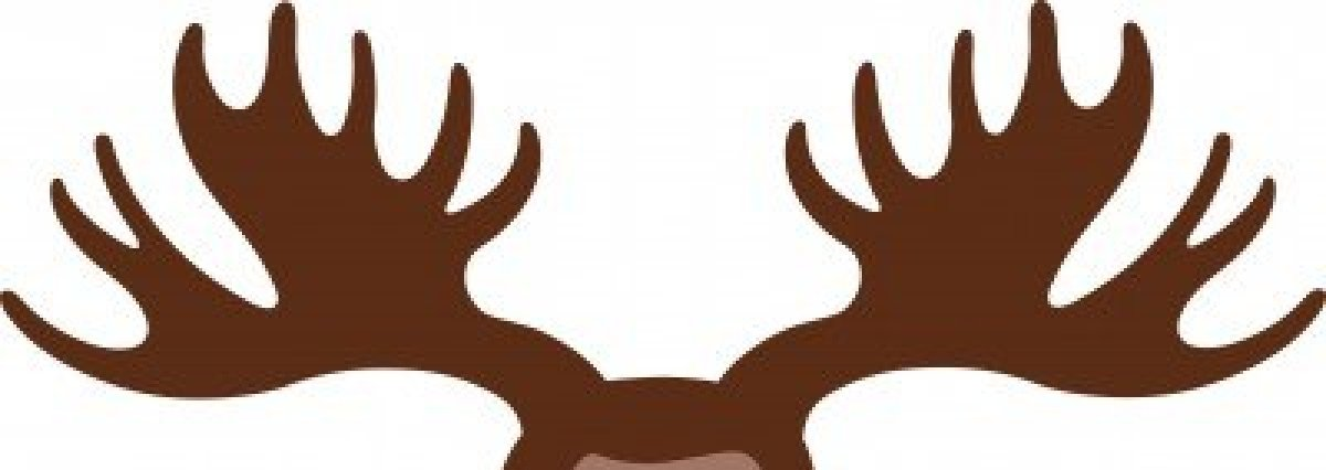 Moose antlers crafting pins. Antler clipart cartoon