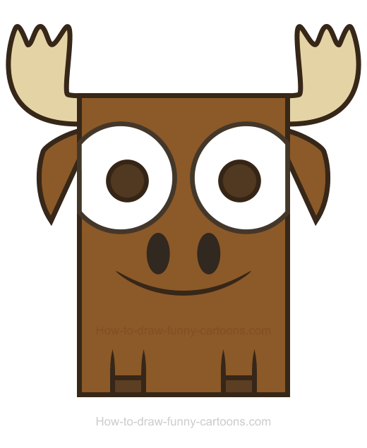 Antler clipart cartoon. Moose how to draw