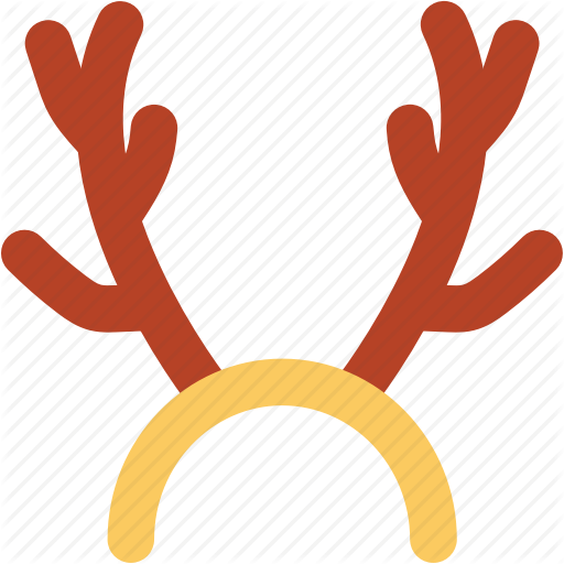 Santa claus reindeer deer. Antlers clipart cartoon