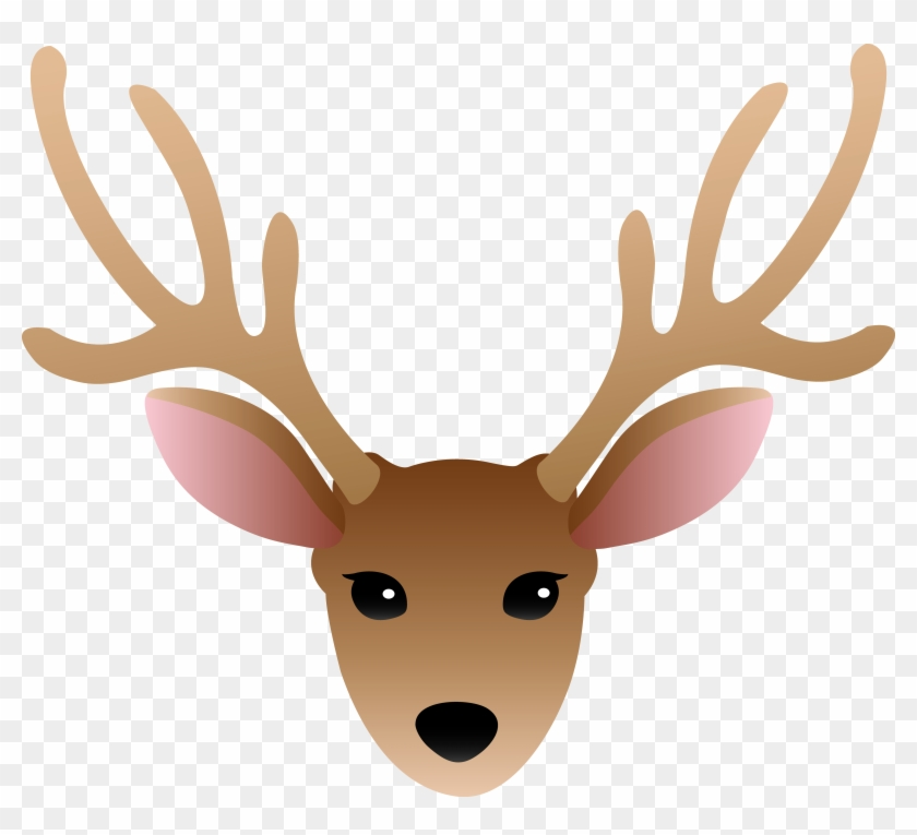Antlers clipart cartoon. Clip art deer head