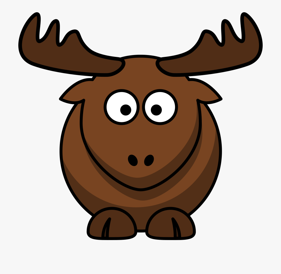 Deer logo moose . Antler clipart cartoon