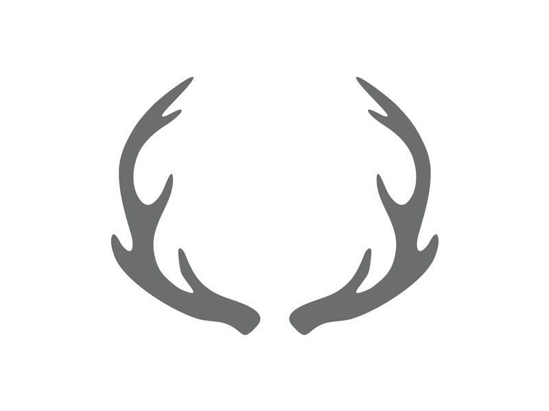 Antler clipart craft. Shape antlers wood craftcuts