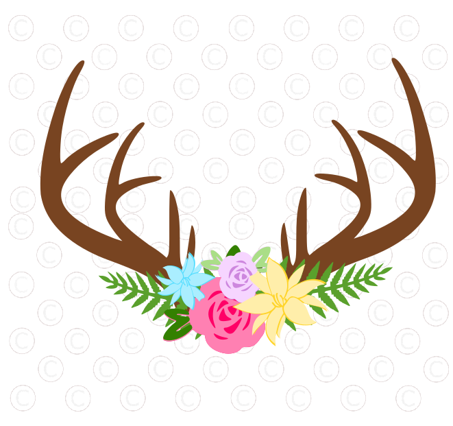 Freebie friday deer and. Antler clipart craft