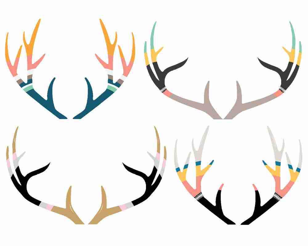Antlers silhouette at getdrawings. Antler clipart cute