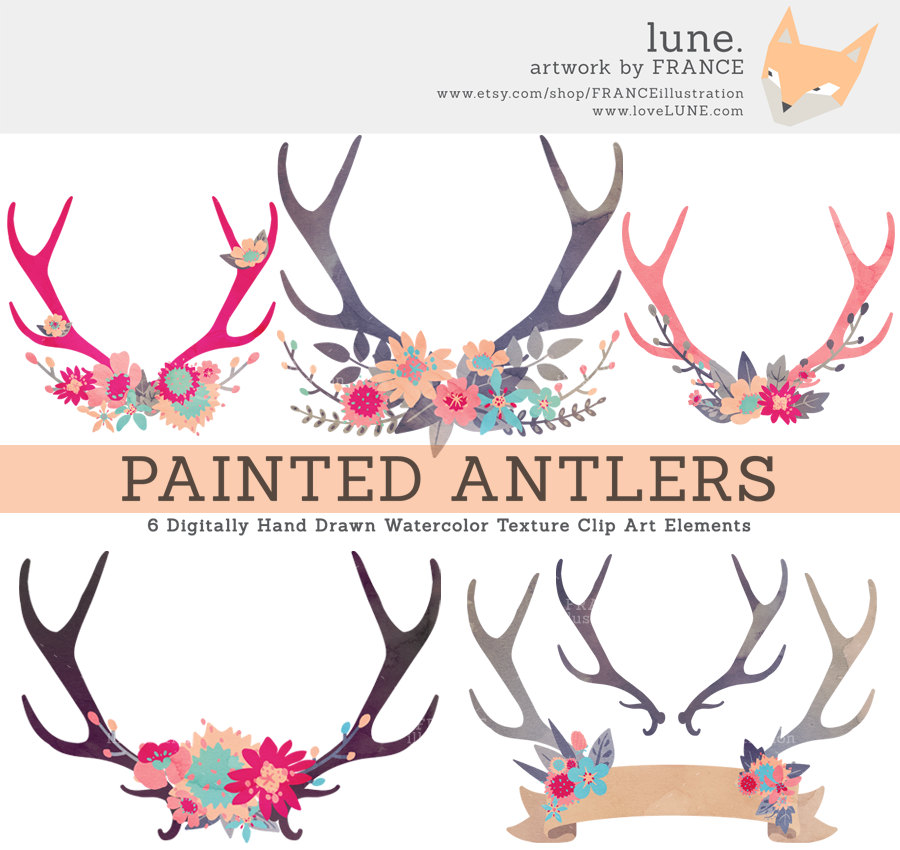 Antlers clipart cute. Free flower antler cliparts