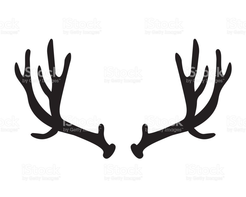 Antler clipart deer antler. Silhouette at getdrawings com