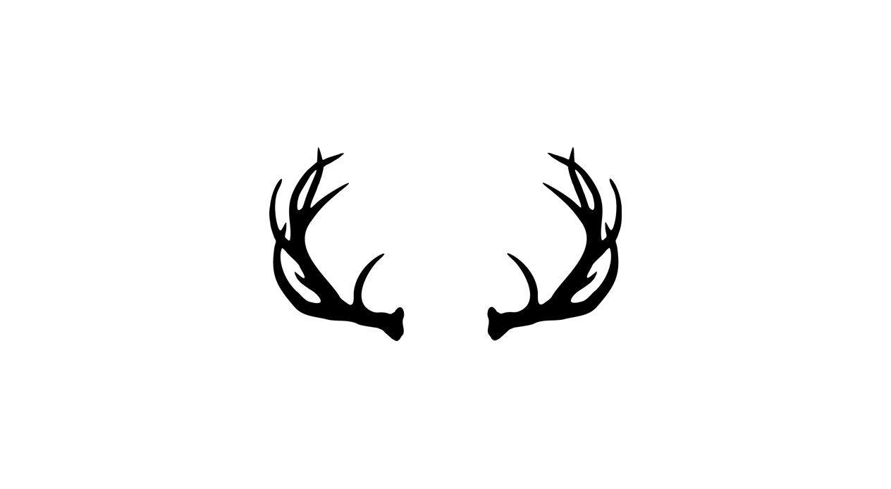 Vector deer antler clip. Antlers clipart transparent background