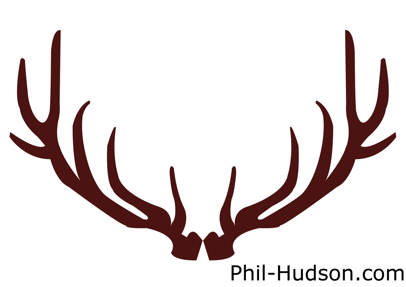 Horns silhouette at getdrawings. Antlers clipart deer antler