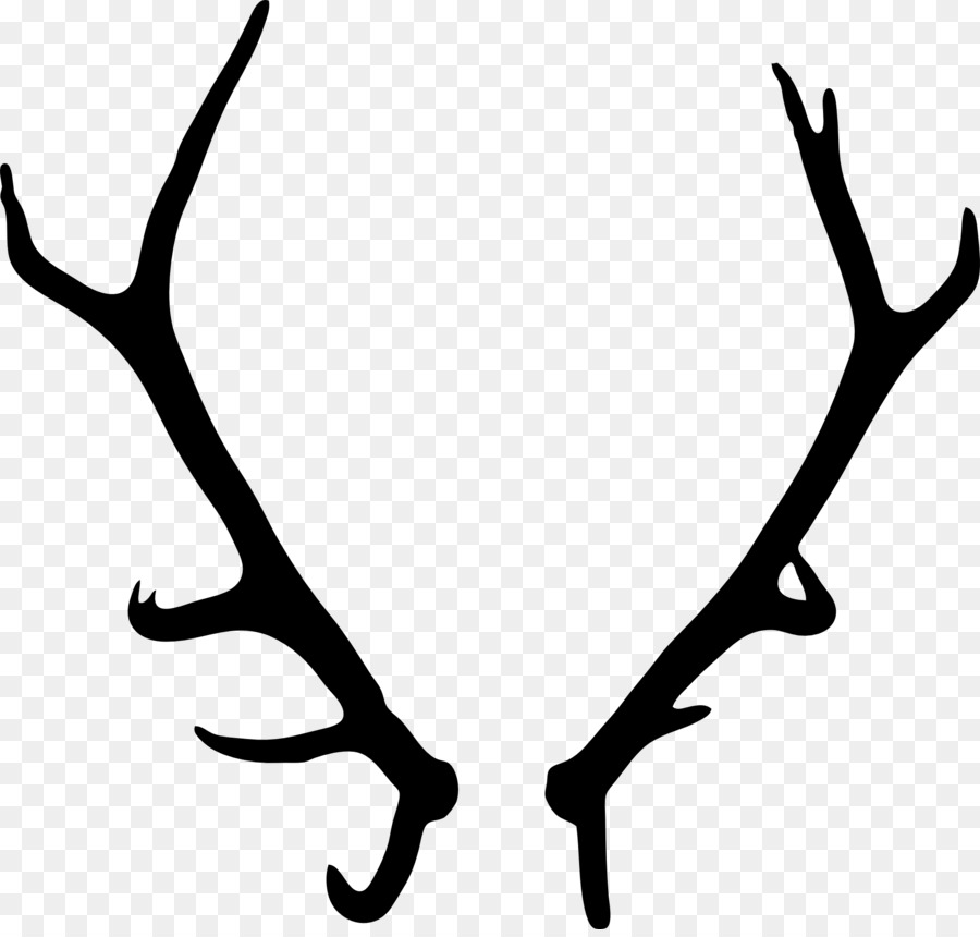 Reindeer cartoon line transparent. Antler clipart deer horn