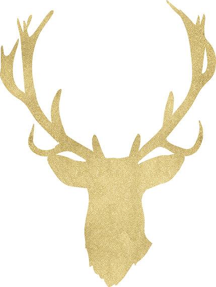 Antler clipart deer rack. Clip art sihouettes black