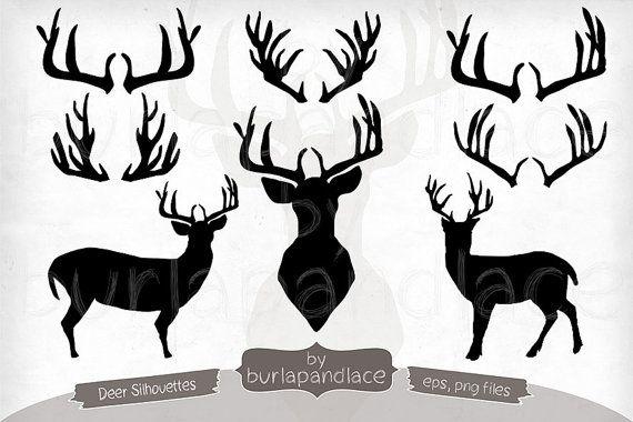 Hand deer antlers moose. Antler clipart draw