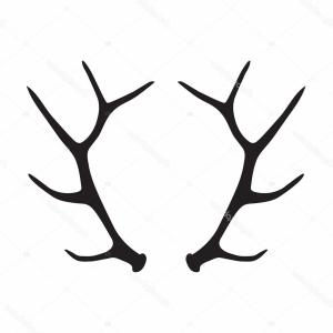 Antler clipart draw. Elk drawing free download