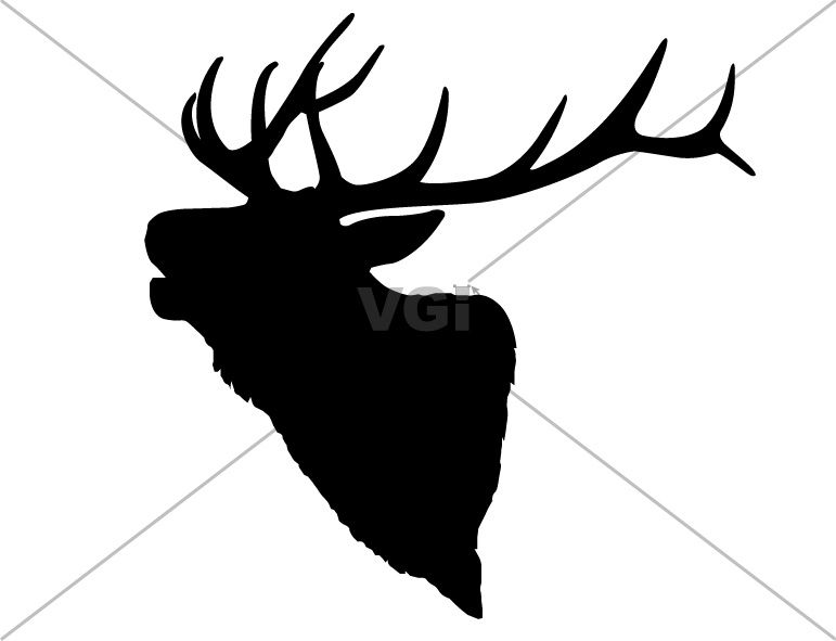 Elk drawing pattern use. Antler clipart draw
