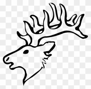 Antler clipart easy. Free png elk clip