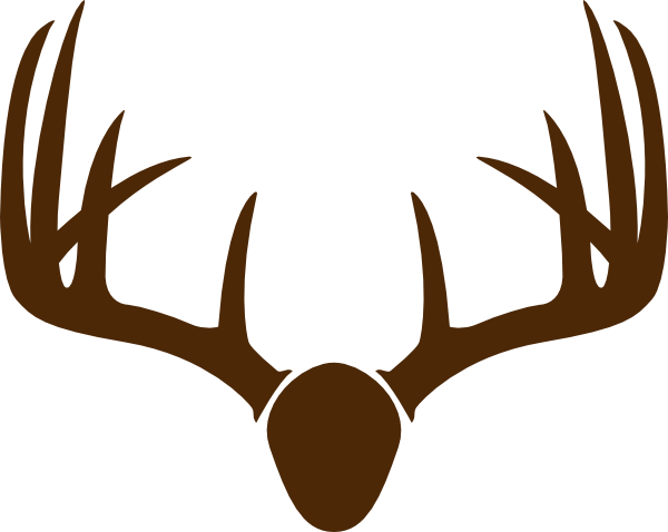 Antler clipart easy. Deer horn drawing at