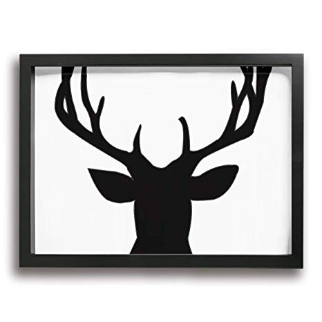 Antlers clipart easy. Amazon com antler wall