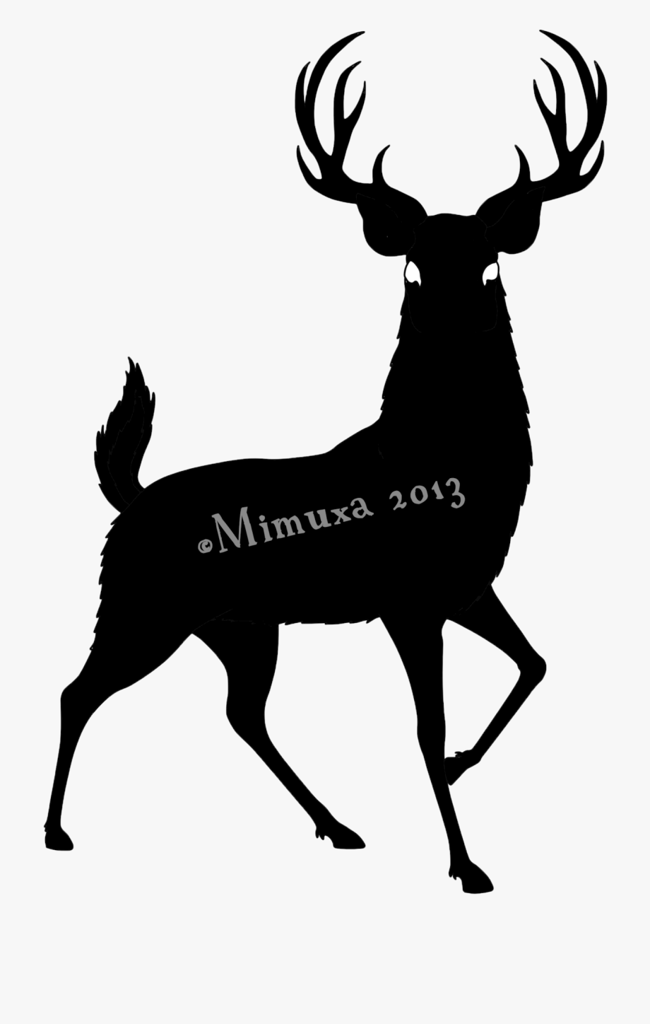 Whitetail deer black png. Antler clipart easy