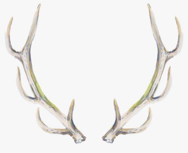 Antlers clipart elk. Hand painted brown png