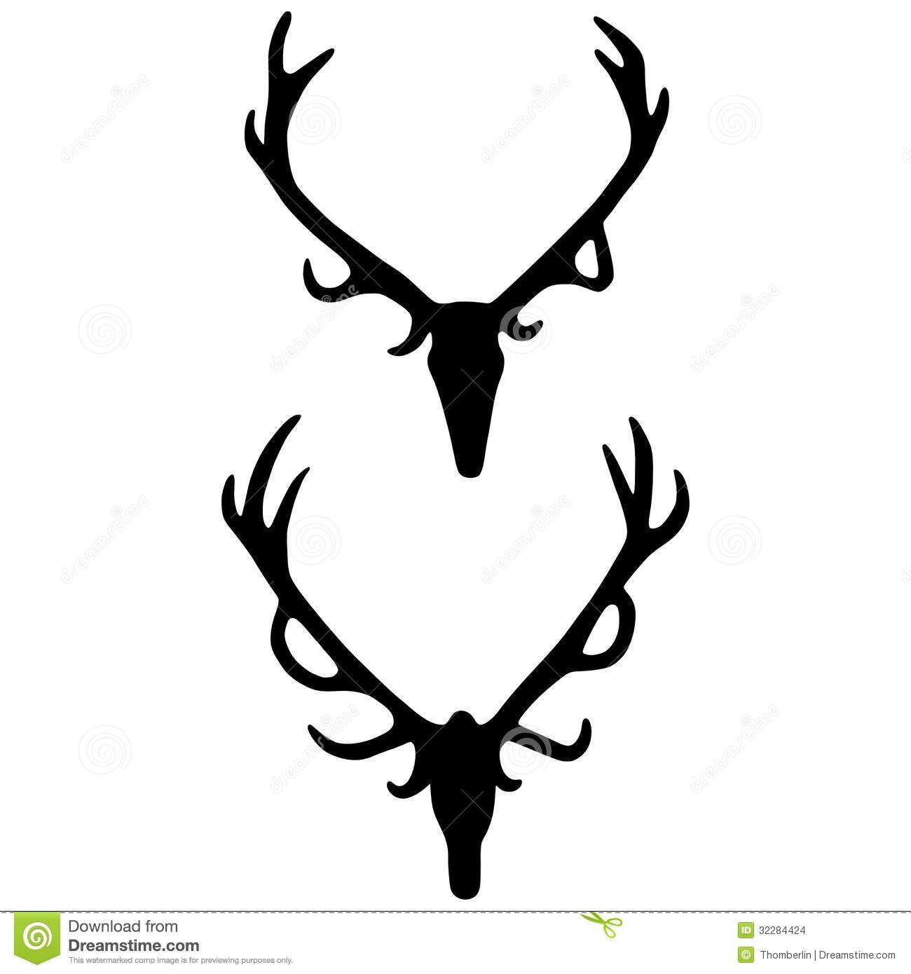 Antlers clipart elk. Antler silhouette at getdrawings
