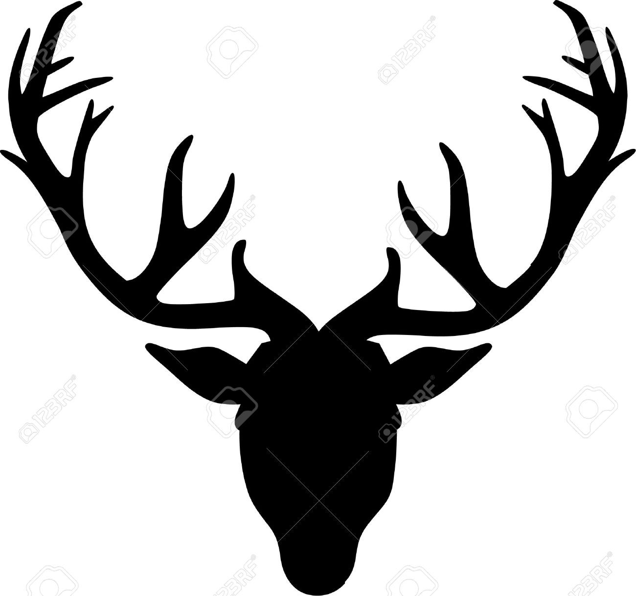 Silhouette at getdrawings com. Antlers clipart elk