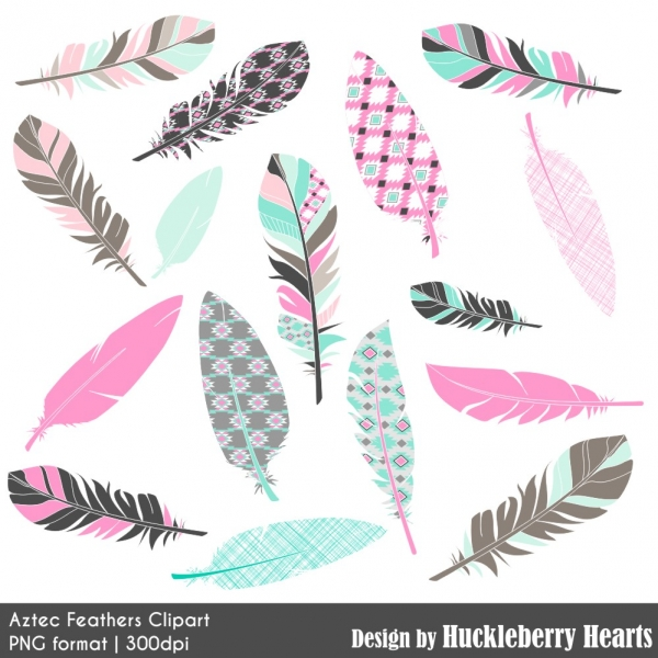 Floral flowers and digital. Antlers clipart feather