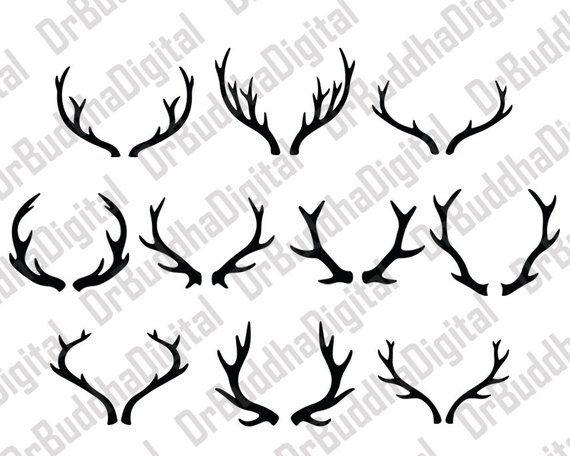Sale deer svg collection. Antler clipart file