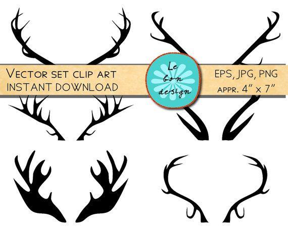 Printable art clip deer. Antlers clipart file