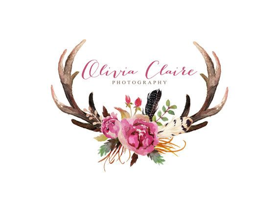 Antlers clipart flower. Free antler cliparts download