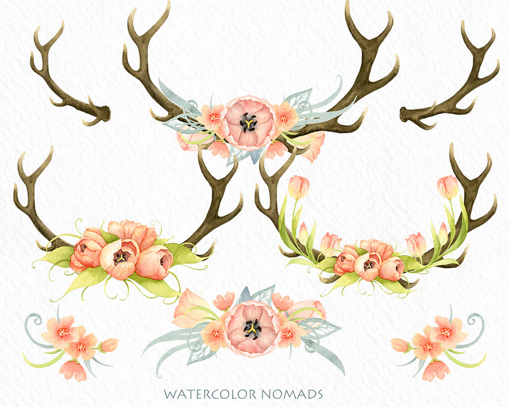 Antlers flower crown