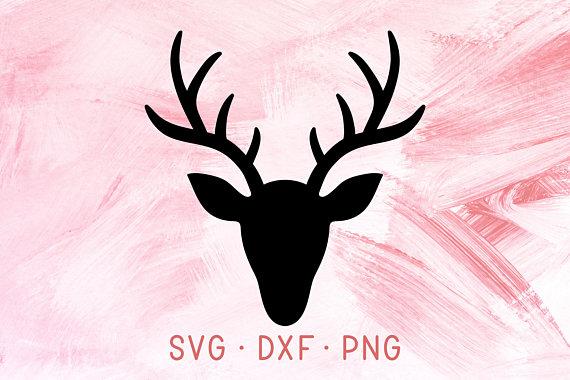 Deer svg dxf png. Antler clipart gazelle