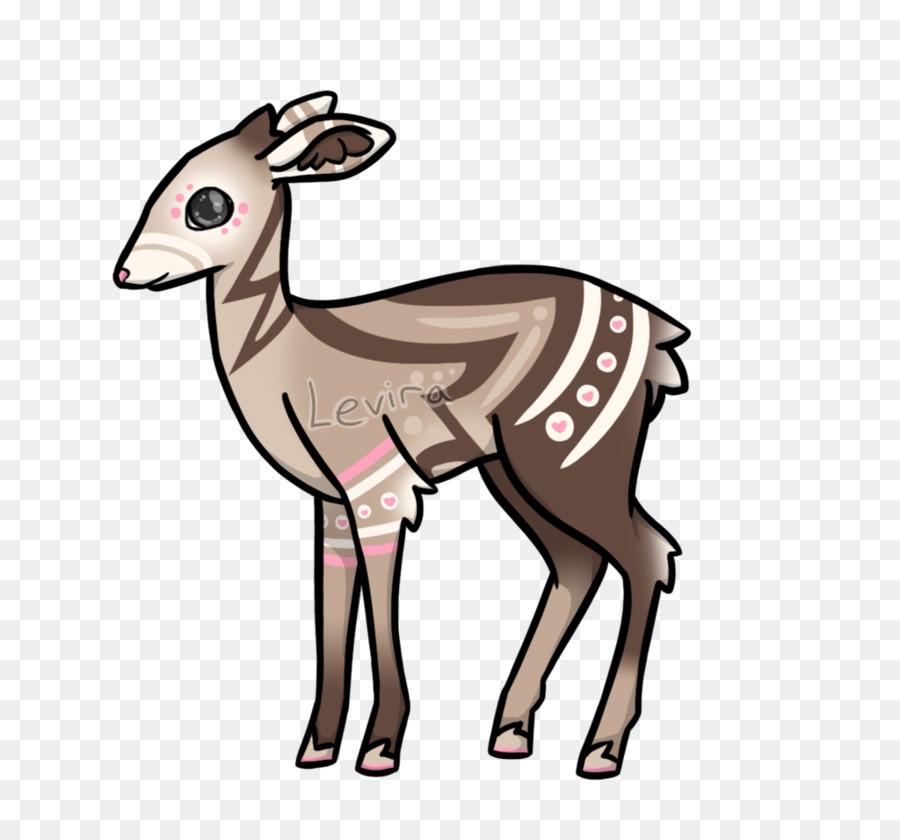 Musk deer reindeer clip. Antler clipart gazelle