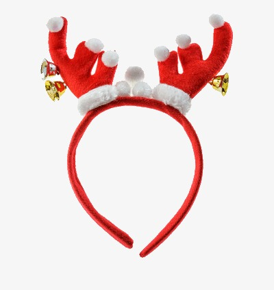 Christmas red gloves angle. Antler clipart headband
