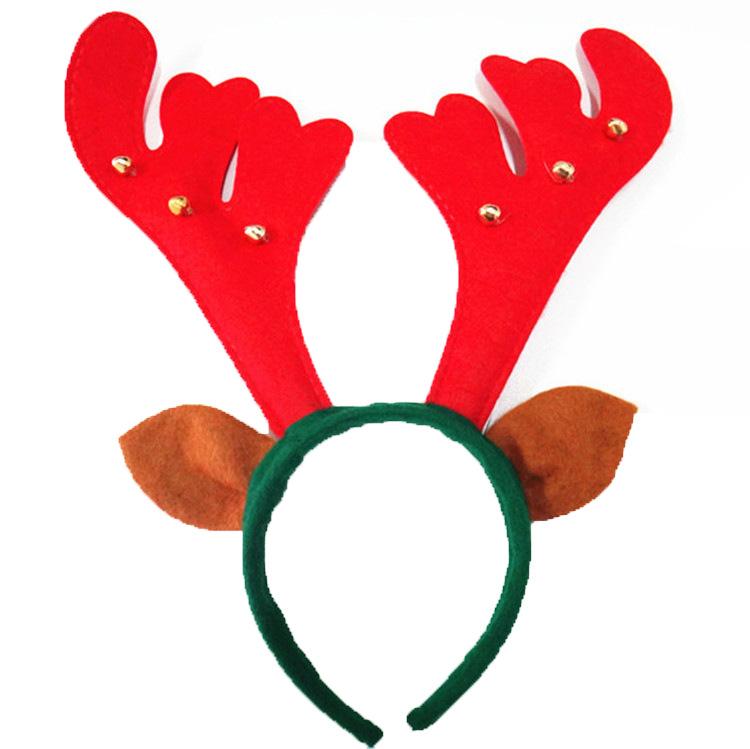 Antler clipart headband.  pcs santa reindeer