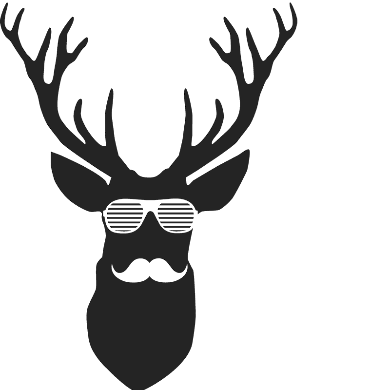 Deer rubber stamp stamps. Antler clipart hipster