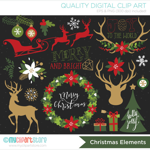 Antler clipart hipster. Christmas reindeer silhouettes vintage