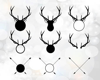 Antler clipart hipster. And arrow etsy svg