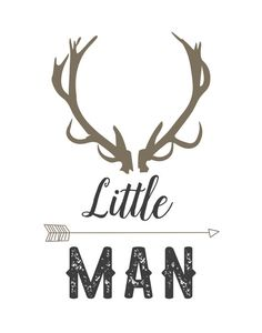 Antlers clipart little man. With horns and an