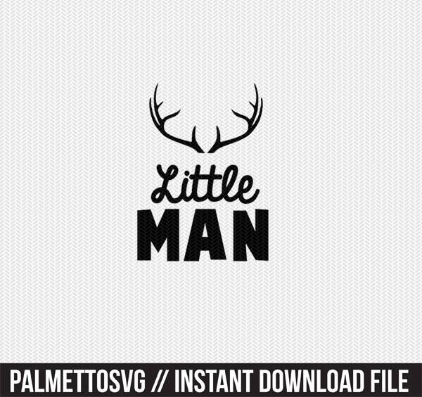 Deer svg dxf file. Antlers clipart little man