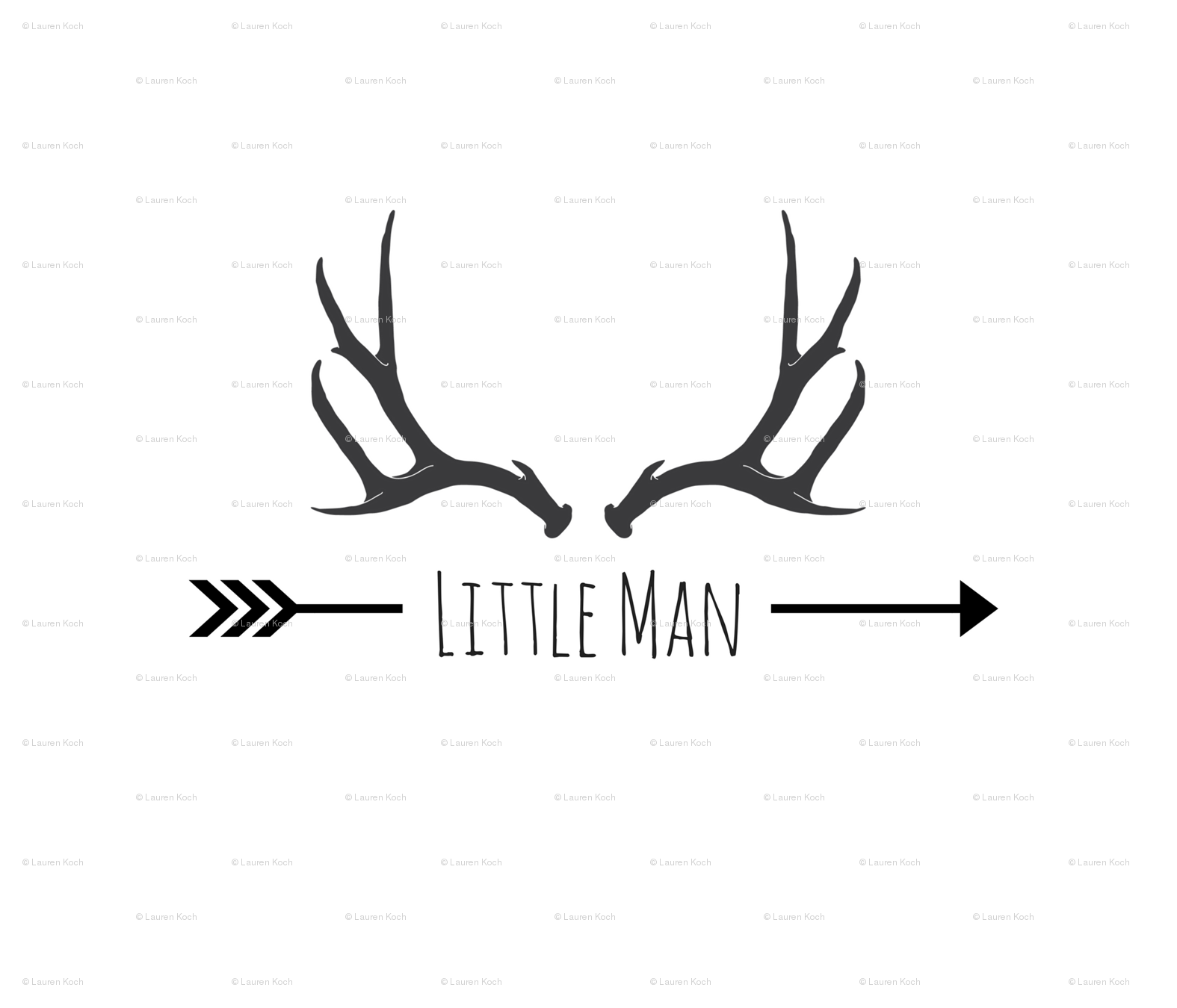 Antlers clipart little man. Antler pillow fq fabric