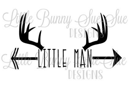 Deer svg png dxf. Antler clipart little man