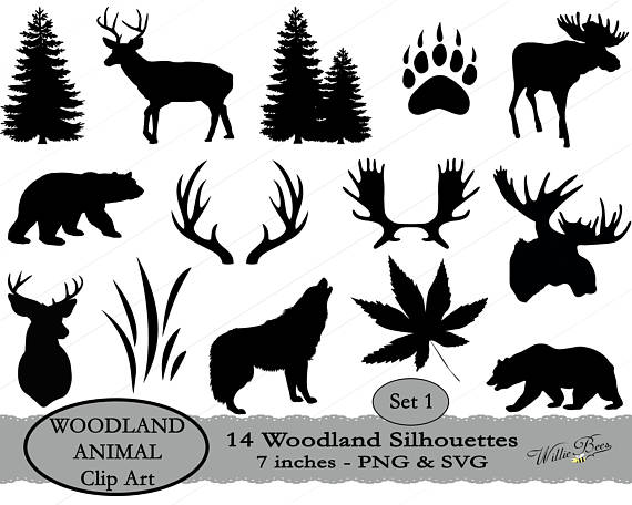 Deer svg woodland animal. Antler clipart moose