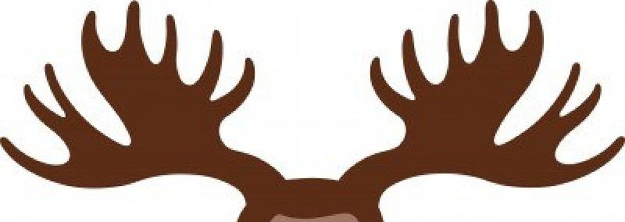 Deer elk clip art. Antler clipart moose