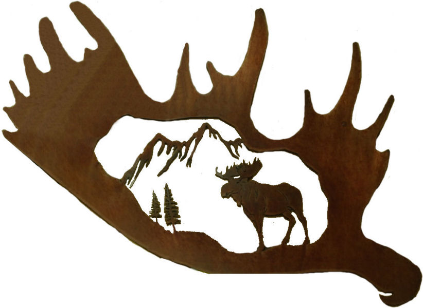Antlers clipart moose. Body