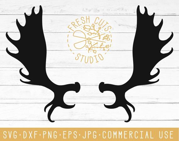 Antler clipart moose. Rustic svg cut files