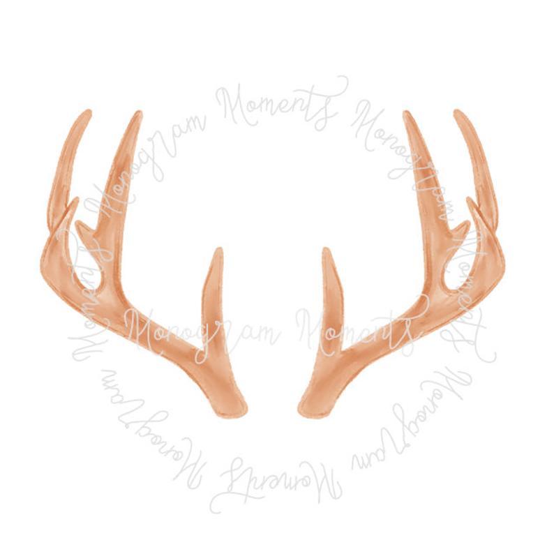 Antler clipart printable. Watercolor hunting png deer